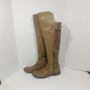 Unlisted Beyond Time Taupe Knee High Boots Sz 8M
